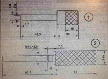 Набор cпецинструмента для RENAULT K4J, K4M & F4P, F4R. фиксации коленвала MOT1430 MOT1489.